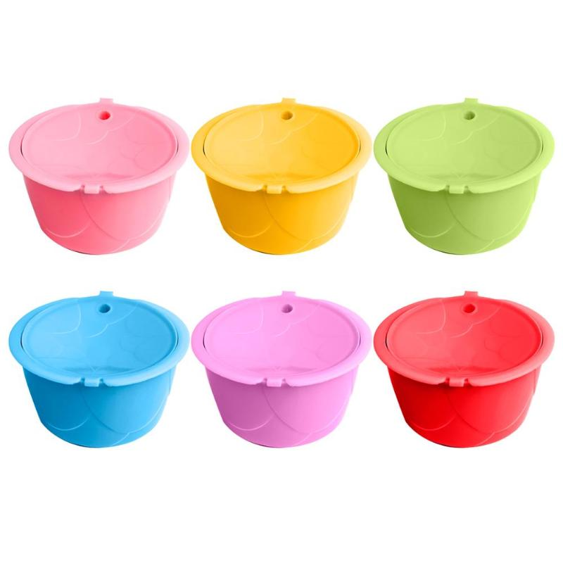 Фильтры для кофе из нержавеющей стали, совместимые с капсульной машиной dolcegusto, яркие цвета, многоразовые принадлежности для кофе