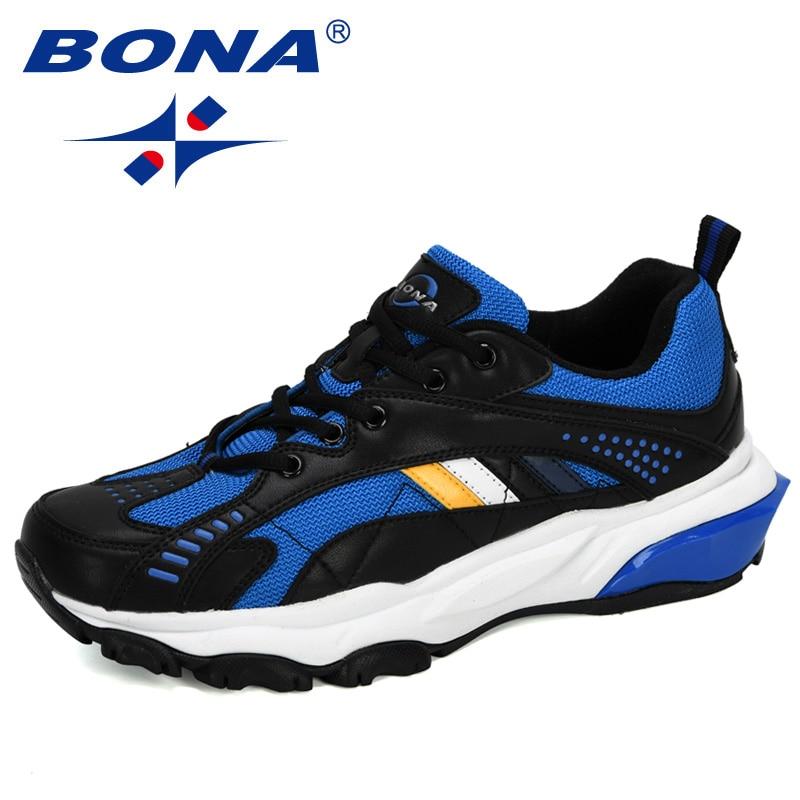 BONA 2020 New Designers Outdoor Sneakers Men Non-Slip Comfortable Mesh Athletic Shoes Jogging Tennis Zapatos Man Running Shoes