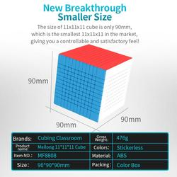 RCtown Mofangjiaoshi Meilong 11x11 cubo Magico Puzzle Cube Twist Puzzle Pädagogisches Spielzeug