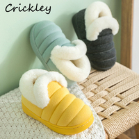 Children Slippers Winter Indoor Flannel Solid Plush Home Shoes for Baby Girls Boys Toddler Soft Warm Non Slip Kids House Slipper