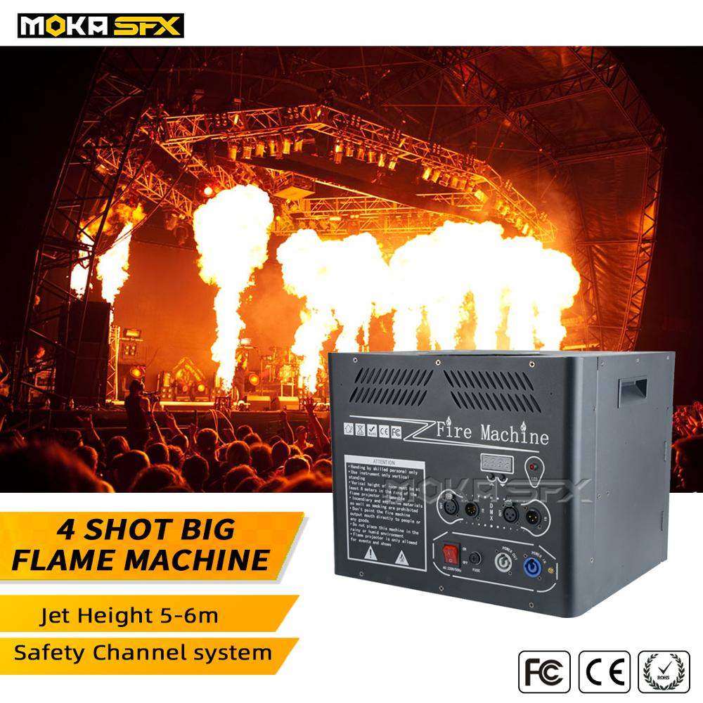4 Shots Big Flame Machine Stage DMX Fire Projector Spray 6 Meters For Stage Nightclub Party
