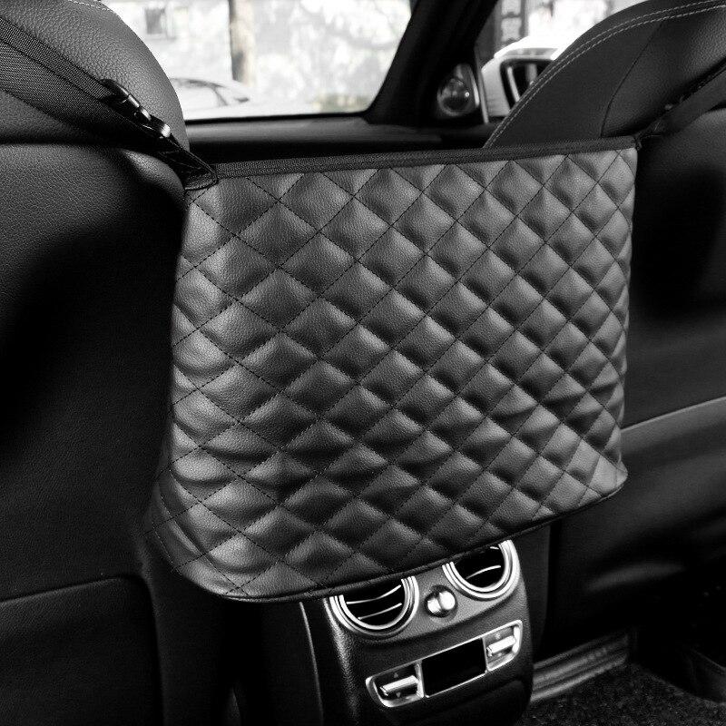 1pcs Advanced Car Net Pocket Handbag Storage  Bags Hanging  Luggage Holder Mesh Car Interior Seat Gap Decor Accessories