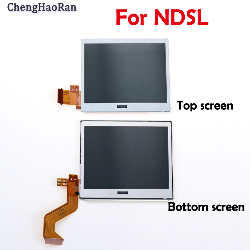 ChengHaoRan 1pcs Top Bottom Upper Lower LCD Screen For NDSL Game Accessories Display Screen For Nintend DSLite DS Lite