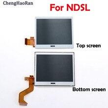 Chenghaoran 1 pçs parte inferior superior inferior da tela lcd para acessórios do jogo ndsl exibir tela para nintend dslite ds lite