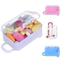 Mini Roller Reise Koffer Candy Box Persönlichkeit Kreative Hochzeit Süßigkeiten Box Gepäck Trolley Candy Spielzeug Kleine Lagerung Boxen