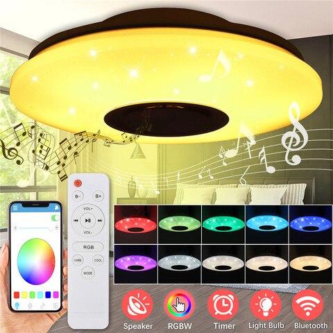 lampada de teto led 54w 60w rgb regulavel musica controle remoto e app ac85 265v