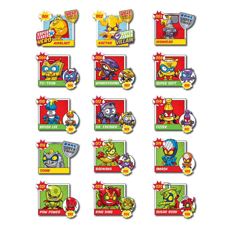 44 Pcs/lot Superzings All Characters Stickers No Repeat Super Zings Series 2 3 4 Birthday Party Decoration Kids Christmas Gift