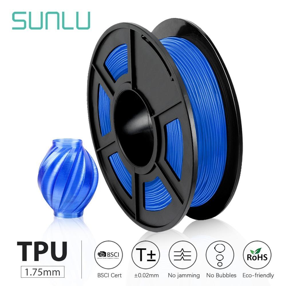 SUNLU ТПУ Гибкая нить 1,75 мм высокоэластичная Гибкая ТПУ нить для 3d принтера 0,5 кг Быстрая доставка