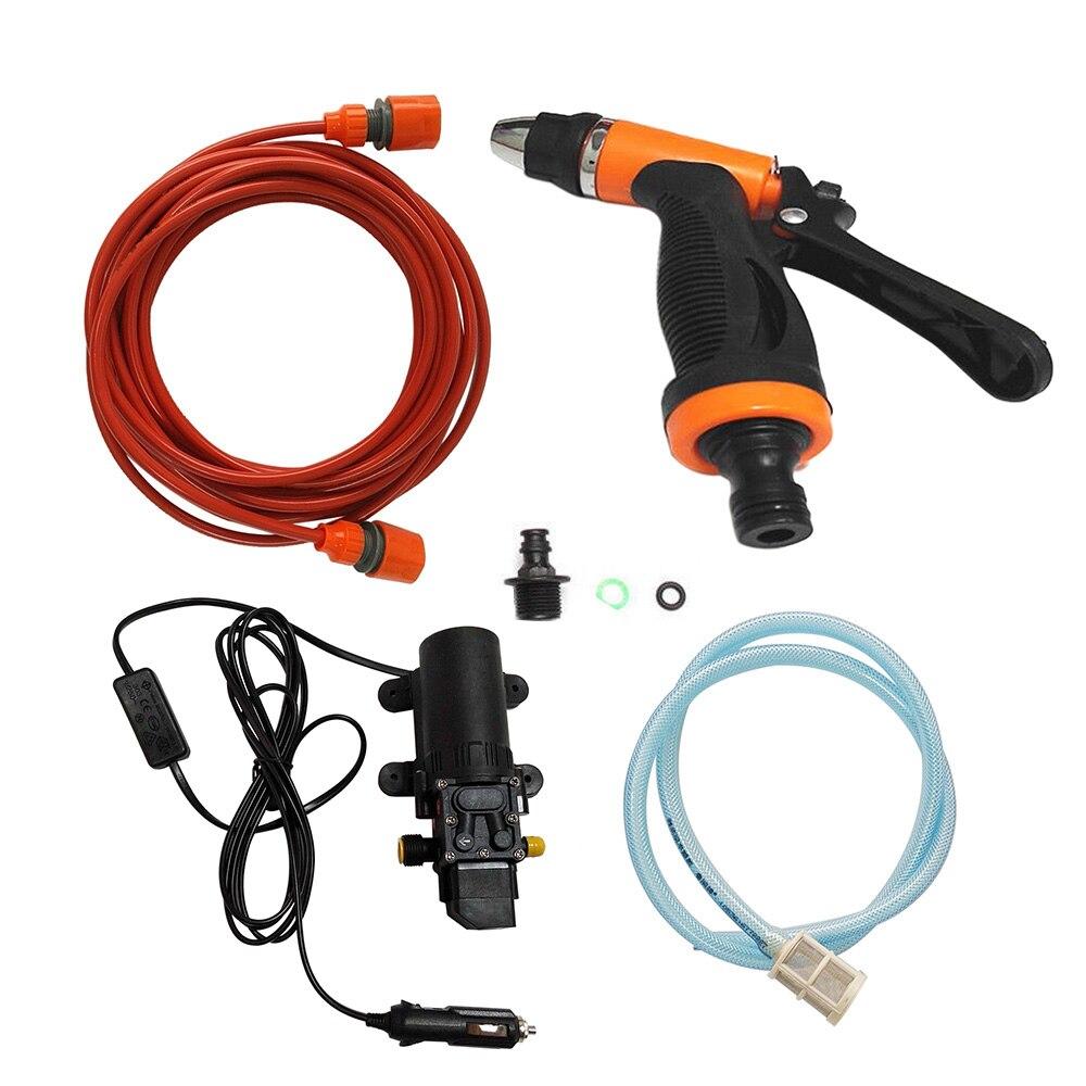 Car Washing Water Gun Set 12V + Water Outlet hose Hose+Car Power Adapter+Diaphragm Water Pump High Pressure Water Gun