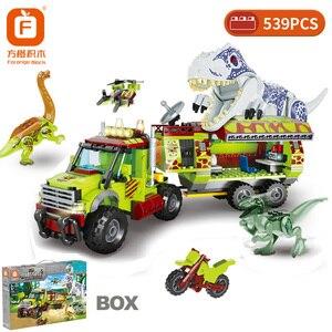 LegoINGlys Dinosaurs party Toy Kids Educational Building Blocks Mini Figures Bricks Boys Children Gift Jurassic Dinosaur World