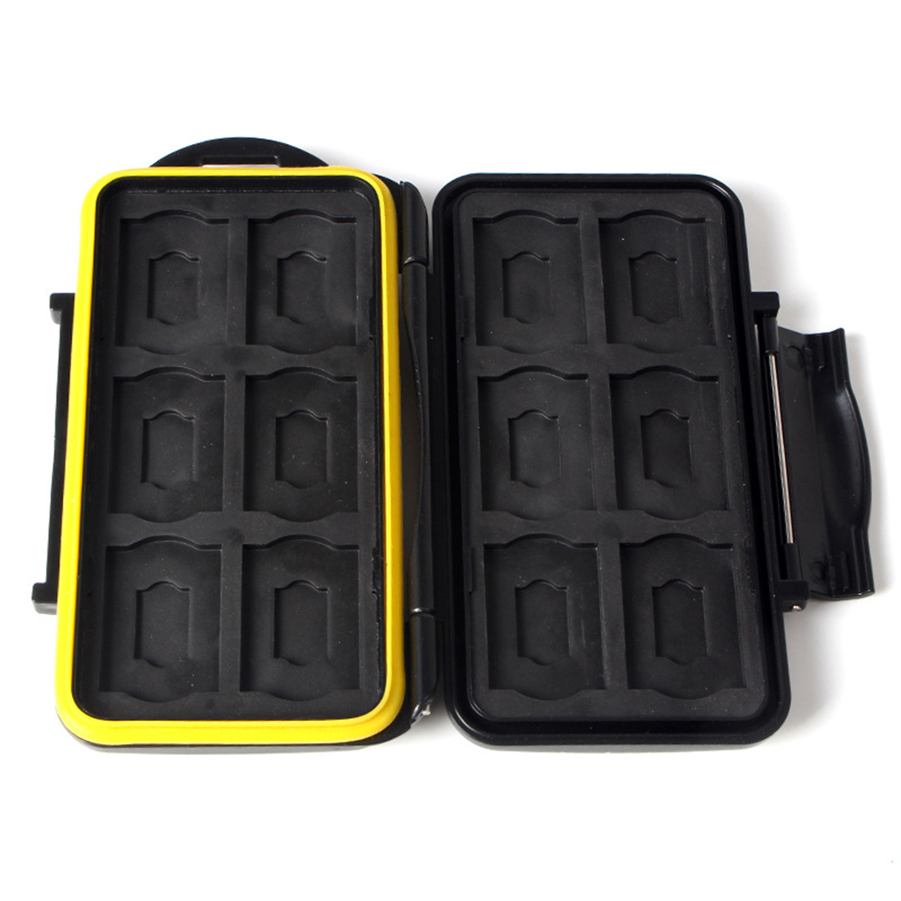 JJC MC-SDMemory Card Case Black Memory Card Case Waterproof Supper   Card Holder Box For 1SD/TF Card Case