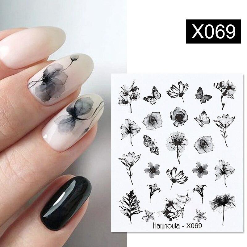 1 лист рельефных наклеек для ногтей Harunouta, 3D Цветочные листья, слайдер, водные переводные наклейки для ногтей, переводные наклейки для ногтевого дизайна своими руками Стикеры и наклейки    АлиЭкспресс - Для красоты и здоровья