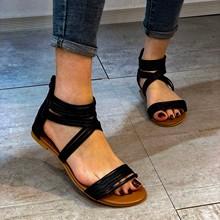 2021 sandały damskie letnie nowe modne damskie sandały płaskie buty modne letnie klapki modne i wygodne tanie tanio miflame CN (pochodzenie) Niska (1 cm-3 cm) Na co dzień podstawowe Płaskie z Otwarta RUBBER Dobrze pasuje do rozmiaru wybierz swój normalny rozmiar