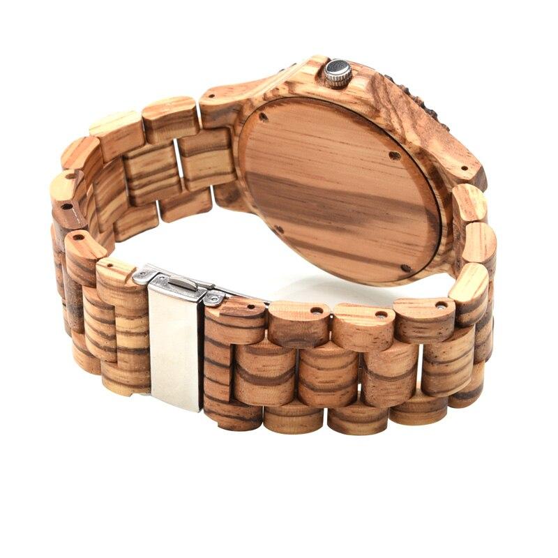 de luxo marca de madeira relógios de