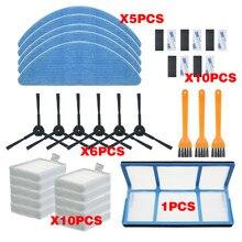 Filtre Hepa pour aspirateur robot ilife v5/v5s/V3/V3s/v5pro/V50/V55/x5/v5s pro, brosse latérale, pièces détachées