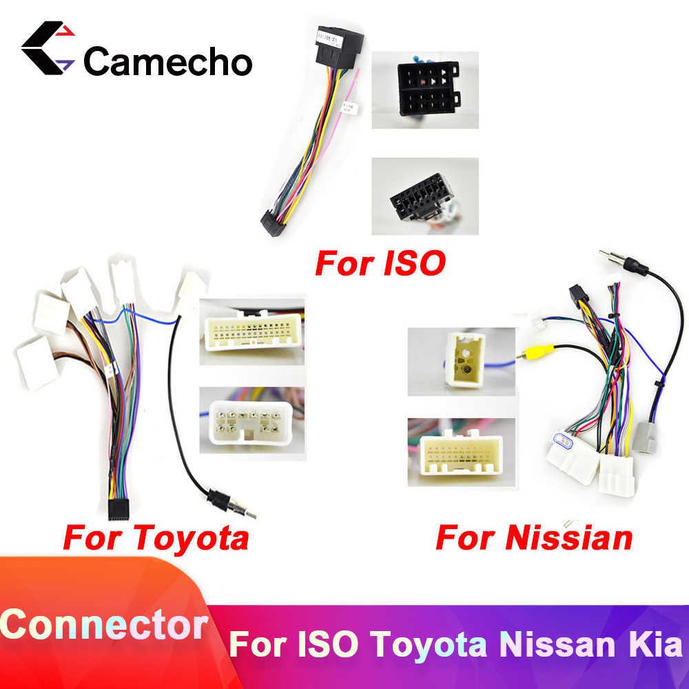 Camecho 2DIN xe Android Vô Tuyến Cáp Treo Phụ Kiện Dây dành cho Xe Volkswagen ISO Hyundai Kia Honda TOYOTA Nissan