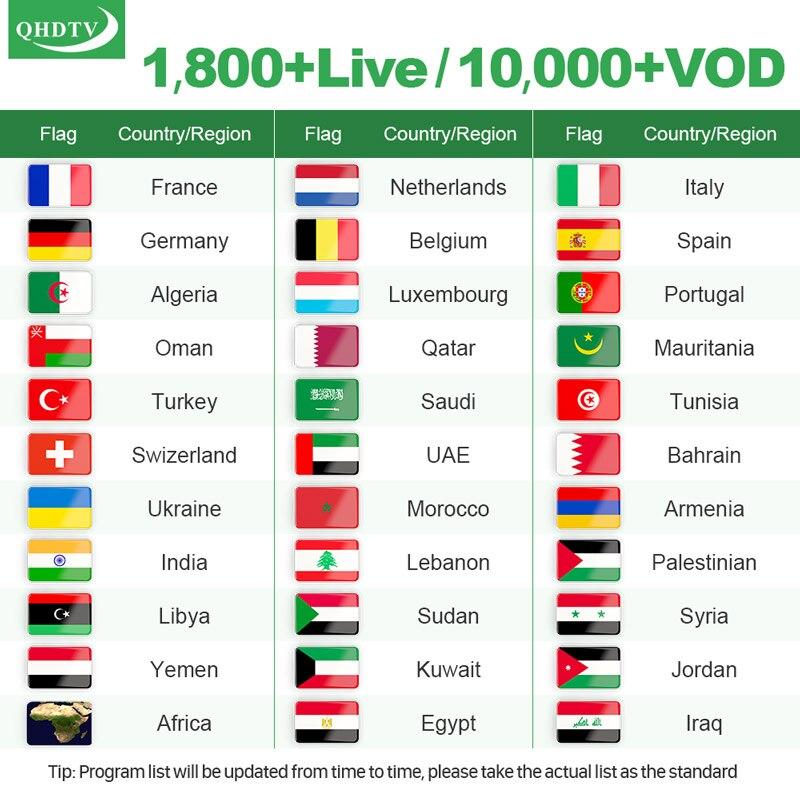QHDTV IPTV Frankreich Arabisch Italien Android Leadcool Q9 RK3229 H.265 Spanien IPTV Französisch Deutsch QHDTV IPTV Belgien Dutch Abonnement