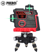 PUERCI Laser Level 12 Lines 3D Self-Leveling 360 Horizontal And Vertical Cross Super Powerful Green