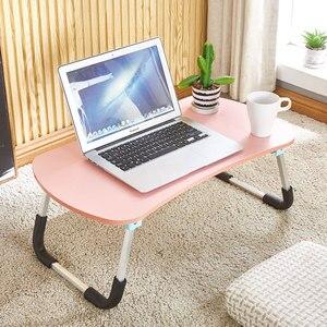 Image 2 - Escritorio para ordenador portátil, cama multifunción, mesa pequeña plegable, para dormitorio, estudio, para el hogar