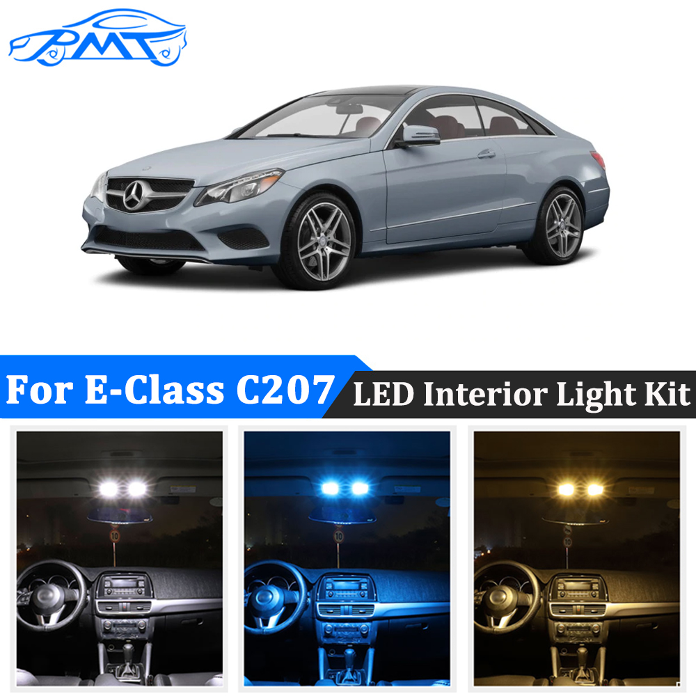 BMT 14Pcs Car LED interior dome light Kit For <font><b>Mercedes</b></font> E class C207 W207 <font><b>Coupe</b></font> E200 E220 E250 E260 <font><b>E300</b></font> E320 E350 E400 E500 E550 image