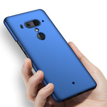 Original Case For HTC U12+ Phone Case Luxury Matte Hard PC Cover On U12 PLUS Silicone Edge Anti-drop protection Cover(China)