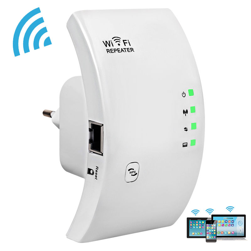 Original WIFI Repeater 300Mbps Wireless Wi fi Repeater WiFi Signal Range Extender Wifi Booster Amplifier WPS Wi-fi Access Point packaging and labeling
