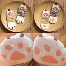 Lady Girls Cartoon Cute Cats Paw Kitty Claws Ankle Short Socks Kawaii Cotton Summer Spring Socks Cartoon Funny Paw Socks Women