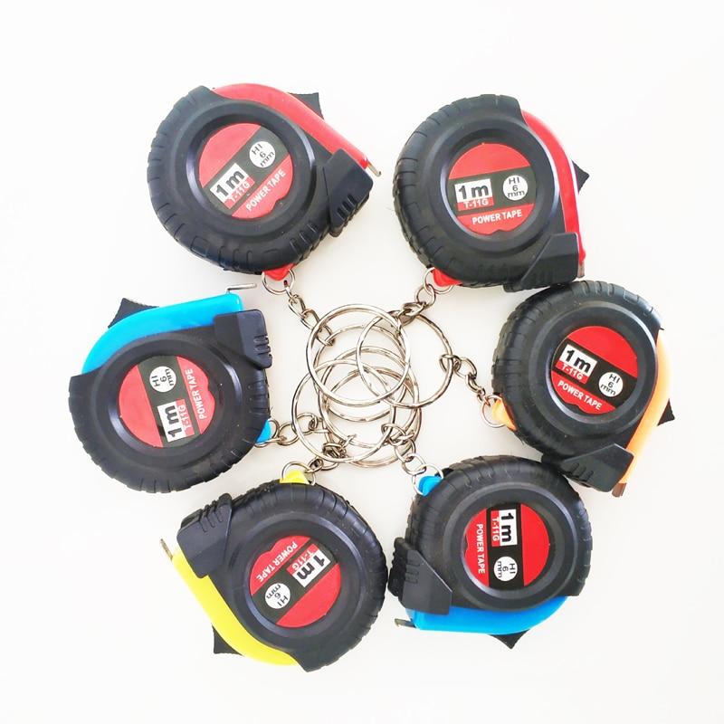 Mini Tape Measure Keychain Universal Pull Ruler Metric Tape Measure Retractable 1m Measuring Tape Meter Inch Tailor Tool