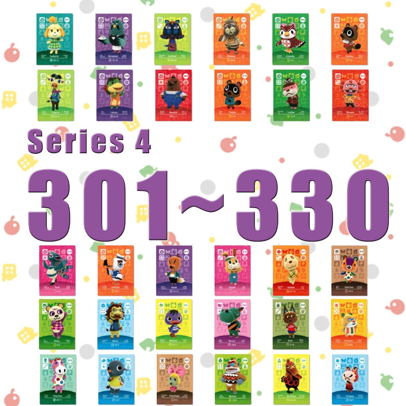 Amiibo Animal Crossing New Horizons Amiibo Card Set Work For NS Switch Games Series 4 (301 To 330)