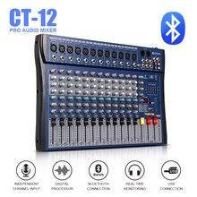 Bom som! controlador de dj usb, controlador dj, amplificador profissional, 12 canais de áudio, efeito digital, karaoke, ktv, misturador de casamento