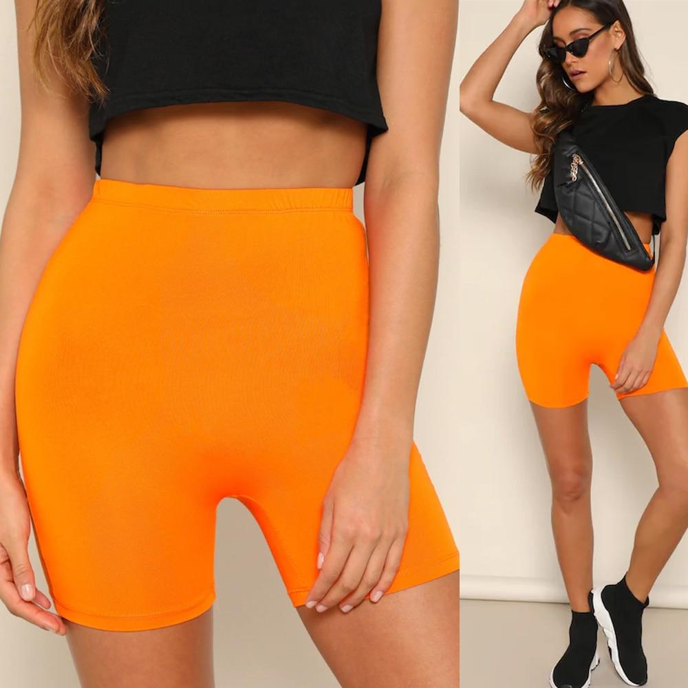 Womens Capri Leggings Shorts Basic Casual Cotton Spandex Stretch Soild Pencil Shorts Elastic High Waist