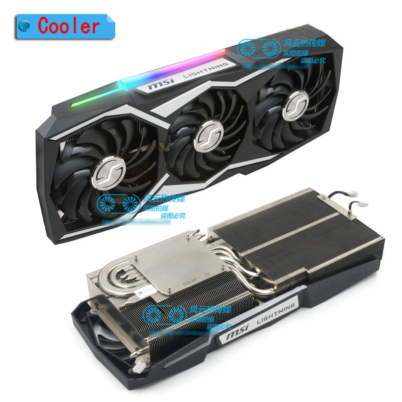 New Original For MSI GTX1080Ti LIGHTNING Video Graphics Card Cooler Fan With Heat Sink 1Set