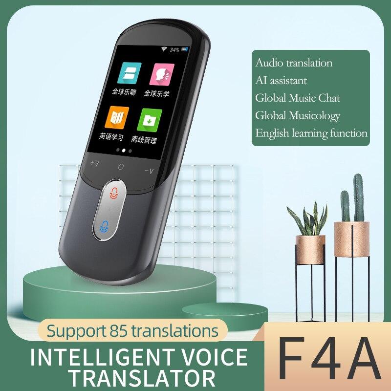 Appareil photo F4A interprète hors ligne traducteur vocal multilingue 85 en ligne 43 pays traduction photo 12 pays hors ligne
