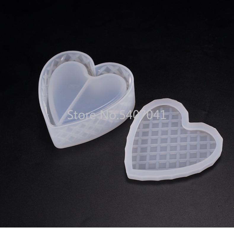 Heart Shaped Cut Jewelry Gift Box Storage Box Mold UV Resin Jewelry Molds Jewelry Tools Jewelry Accessoriespopular