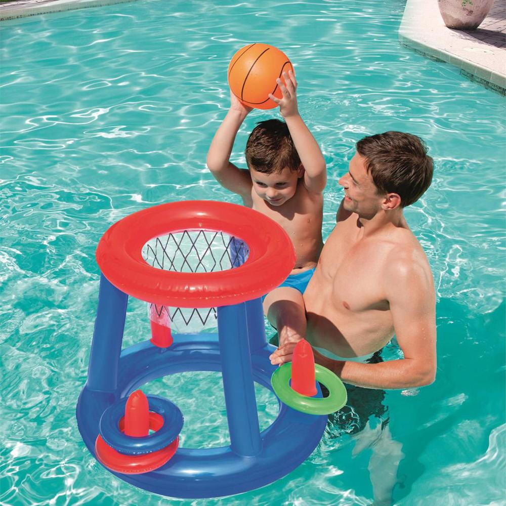 Water Toy Basketball Hoop Pool Float Inflatable Play Game Swimming Pool Water Sport Toy Pool Floating Toys For Children Kids
