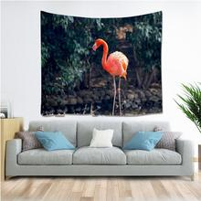 Flamingo Deer Bird Unicorn Tapestry Hippie Mandala Wall Hanging Bedroom Polyester Travel Camping Psychedelic Tablecloth natural animal deer flamingo tapestry hippie mandala wall hanging bedroom polyester travel camping psychedelic tablecloth