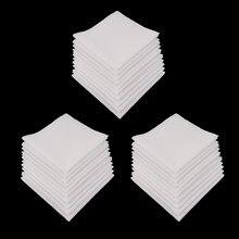 Pañuelos de algodón puro para mujer, 30 Uds., para uso diario, pañuelo cuadrado de bolsillo, 28X28 Cm