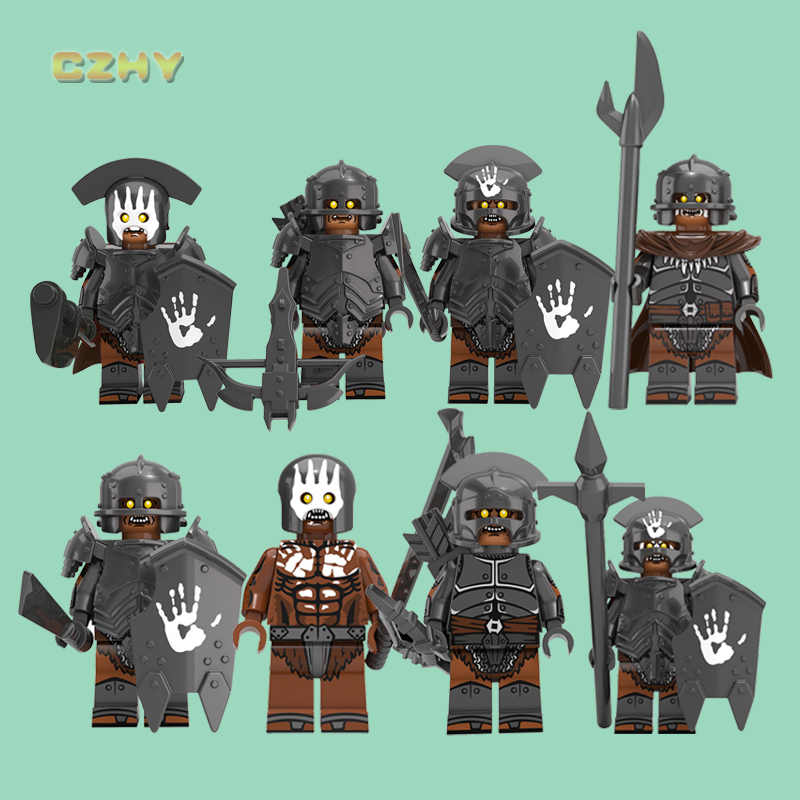 Uruk-hai Army Armor Elves Tatar Gnomes Noldo Warrior Golodh Legoeinglys MINIFIGURed Lord of The Rings Blocks Toys For Children
