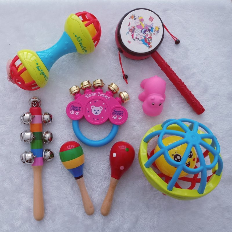 Newborn Infant Baby Toy 0-1-Year-Old Musical Instruments Rattle Toy Shou Yao Gu BABY'S Rattle-Bite CHILDREN'S