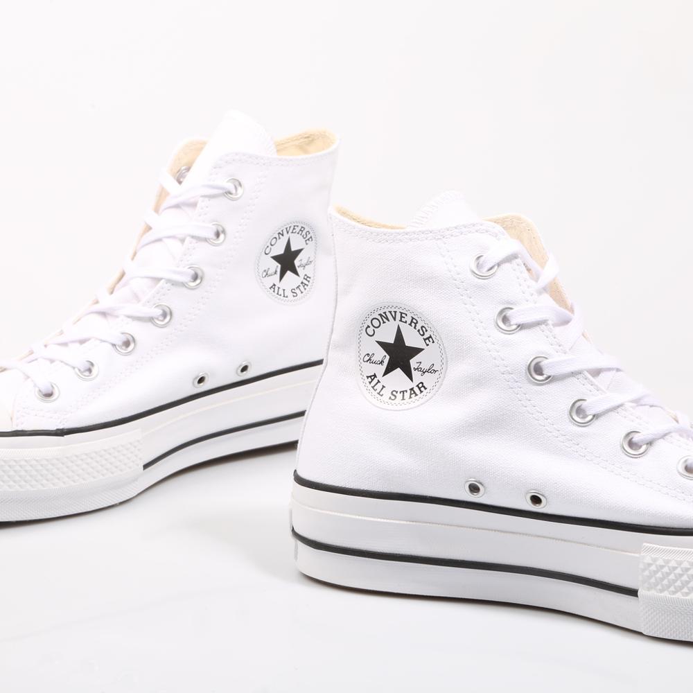 Converse Chuck Taylor All Star plate-forme propre haut blanc baskets femme chaussures décontracté 69224 - 5
