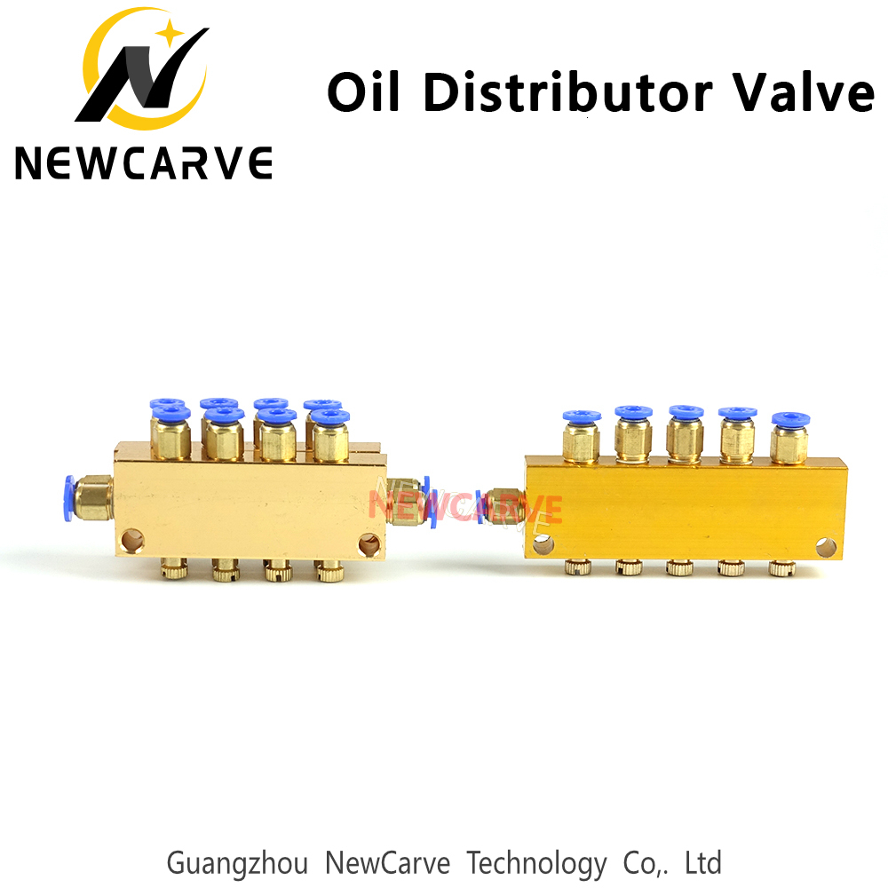 Oil Distributor Valve 1/2 Inlet 2-12outlet For CNC Engraving Machine Lubrication System NEWCARVE