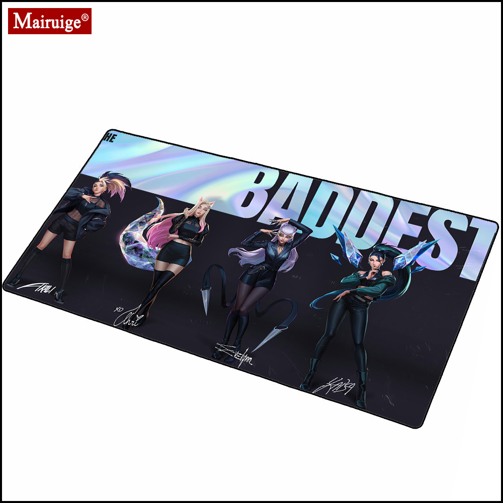 League of Legends Gamer Anime Girl Large Mousepad XXL Gming Mouse Pad 900x400mm Big Persona Role Playing Keyboard Pad Mouse Mat