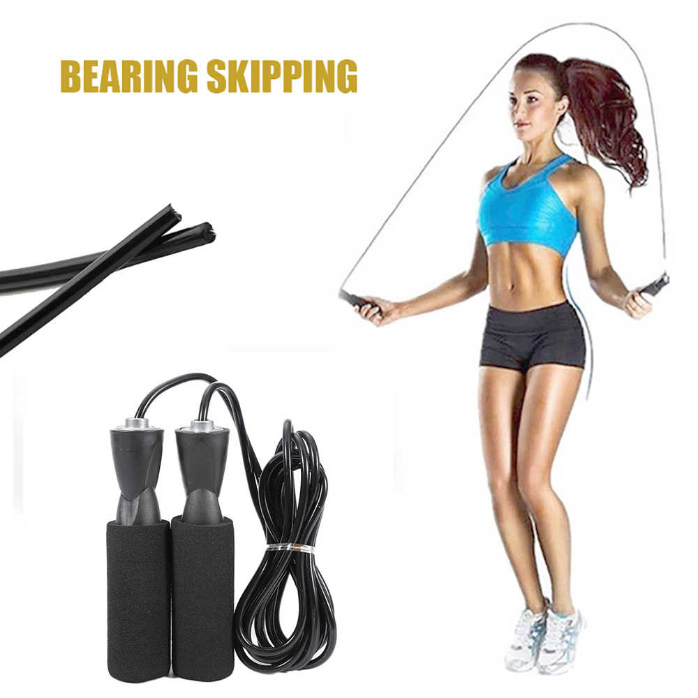 Speed Skipping Jump Rope Adjustable Sports Lose Weight Exercise Gym Crossfit