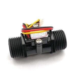 Image 4 - Su akış ölçer debimetre Hall akış sensörü göstergesi sayacı Caudalimetro G1/2 0.5 25L/dak 1.2MPa F = 6 * Q akış sensörü