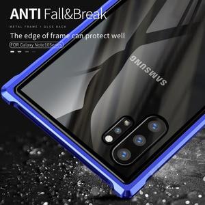 Image 3 - Armure métal pare chocs étui pour Samsung Galaxy Note 10 10 Plus étui 9H verre trempé couverture arrière rigide pour Samsung Note 10 Plus Coque