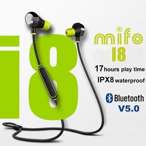 Image 1 - Mifo i8 Bluetooth V5.0 kulaklık spor su geçirmez kablosuz kulaklık 3D Stereo ses gürültü iptal kulakiçi derin bas kulaklık
