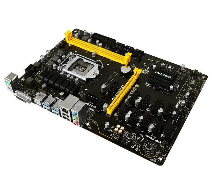 New BIOSTAR TB250-BTC PRO Motherboards 12PCIE B250 LGA 1151 DDR4 ATX BTC Mining Motherboard (alternative H81 BTC PRO TB85 H81)-2