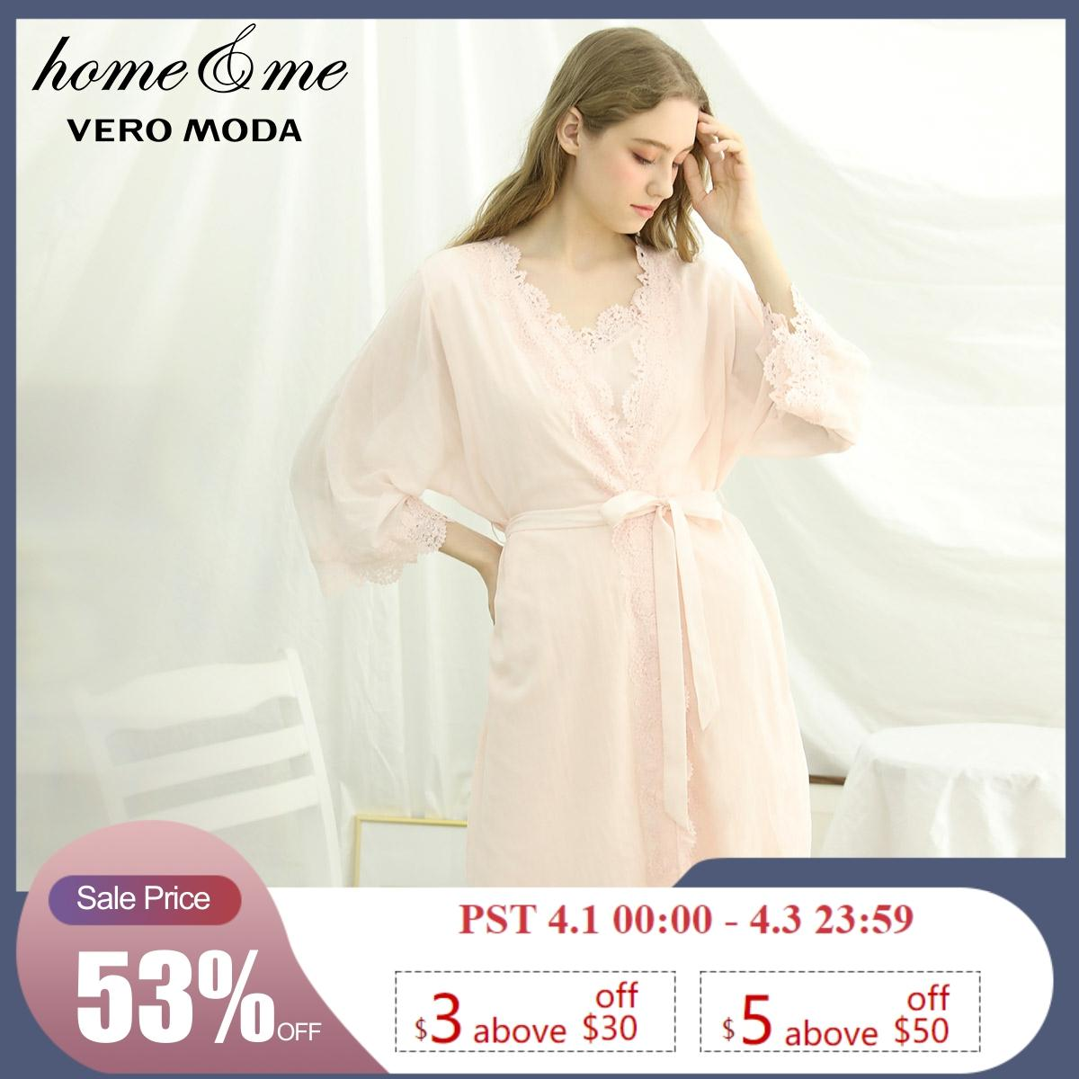Vero Moda New Arrivals 100% Cotton Night Dress Homewear Dress | 3192R1507