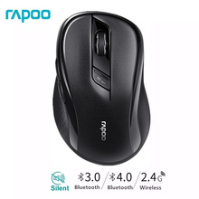 Rapoo M500 Multi โหมดเงียบไร้สายเมาส์ 1600DPI สวิทช์ง่ายบลูทูธและ 2.4GHz ถึง 3 อุปกรณ์เชื่อมต่อคอมพิวเตอร์