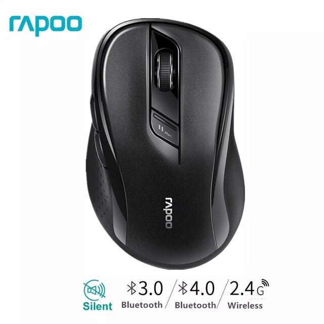 Rapoo souris sans fil M500, multi mode silencieuse Bluetooth et 1600 GHz, avec commutateur facile, 2.4 DPI, jusquà 3 appareils, pour ordinateur